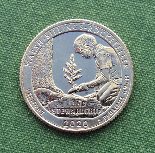 2020S Marsh-Billings-Rockefeller Uncirculated ATB Quarter