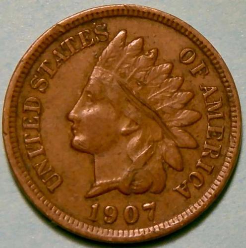 1907 Indian Head Cent Bronze Composite Penny V1P8R2