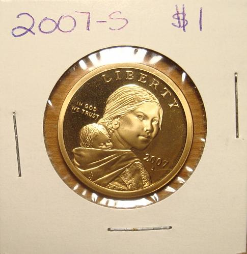 2007 S Sacagawea Dollar Proof