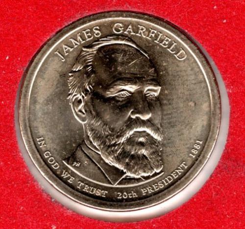 2011 P Presidential Dollars: James A. Garfield -#2