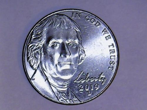 2019 D Jefferson Nickel. See Pictures
