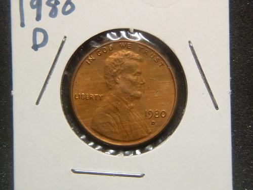 LINCOLN MEMORIAL 1980 D CENT