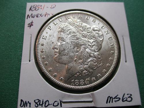 1884-O  MS63 Morgan Dollar.  Item: DM 84O-01A
