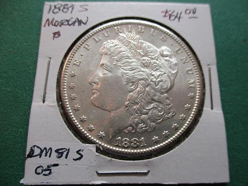 1881-S  MS62 Morgan Dollar.  Item: DM 81S-05.