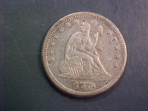 1876 S SEATED LIBERTY QUARTER      ac36