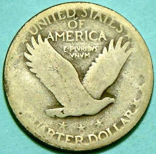 1927 Standing Liberty Quarters Type 2. V1P8R2
