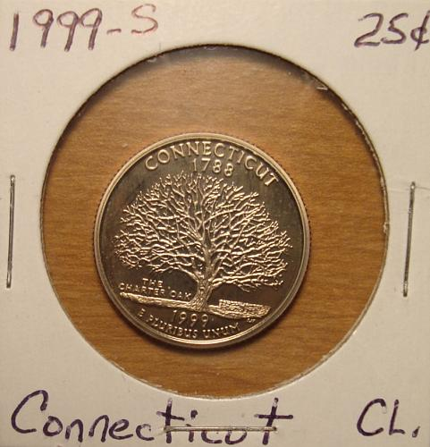 1999 S Connecticut 50 States and Territories Quarter Clad Proof