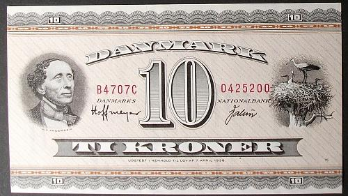 Denmark P44ae 10 Kroner AU++