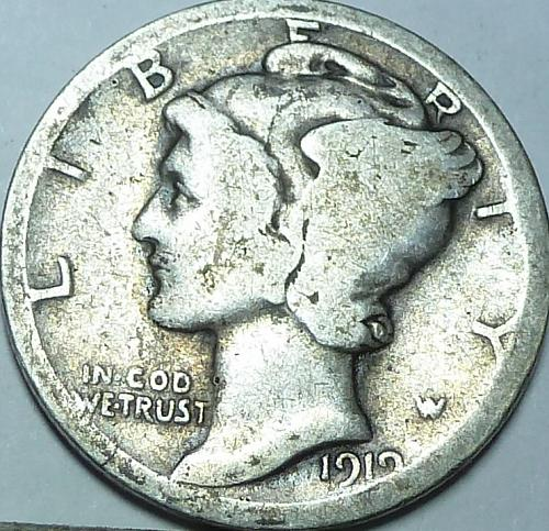1919-D Good Mercury Dime ( W-015)