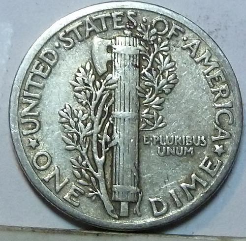 1936-P Extra Fine  Mercury Dime FINE  XF ( W-028 )