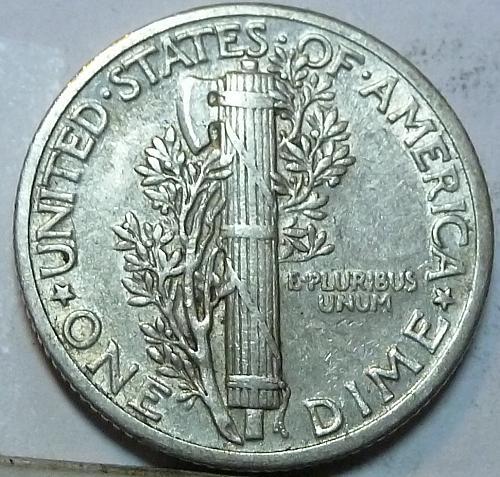 1937-P Extra Fine  Mercury Dime FINE  XF ( W-043 )