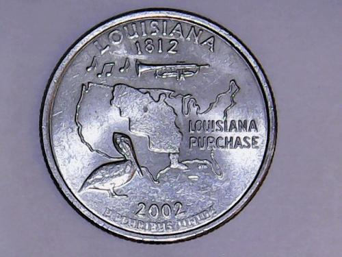 2002 D Louisiana State Quarter  See Pictures