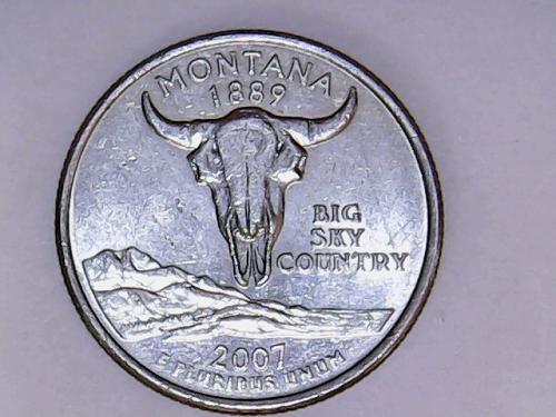 2007 P Montana 50 States and Territories Quarters