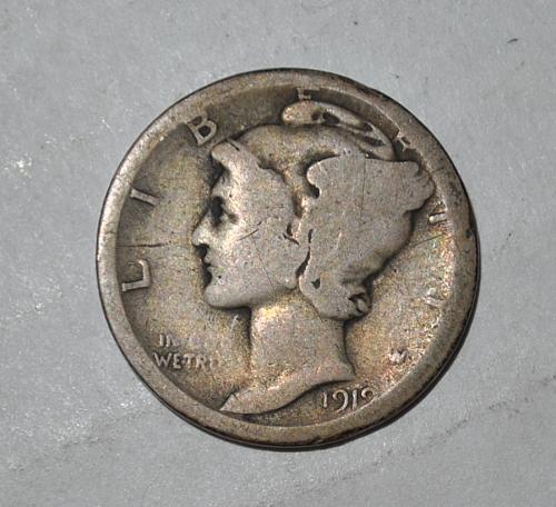 1919 D Mercury Dime G422