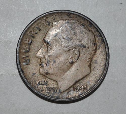 1946 S Roosevelt Dime G440