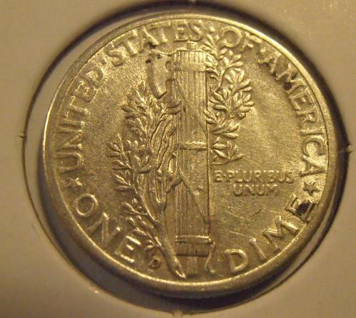 1945 D Mercury Silver Dime (45DUL2)