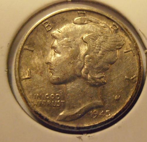 1943 S Mercury Silver Dime (43SUL4)