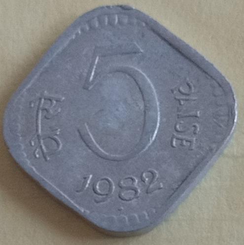 9)...  India .1982....coin