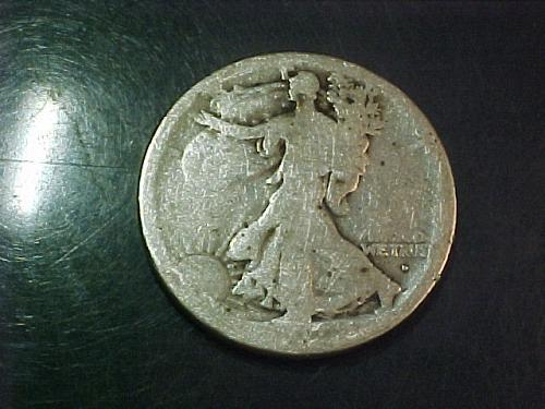 1917 D WALKING LIBERTY HALF DOLLAR  OBVERSE MINT MARK   ac41