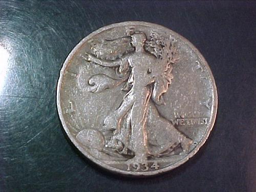 1934 WALKING LIBERTY HALF DOLLAR     ac46