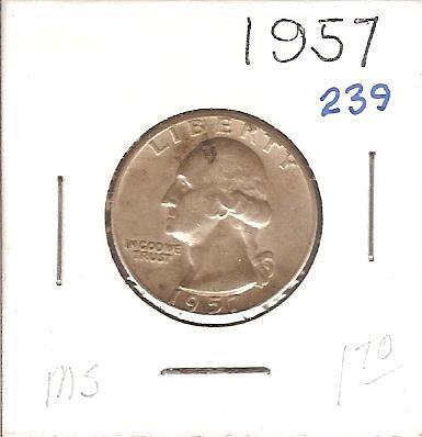 1957 Washington Quarter