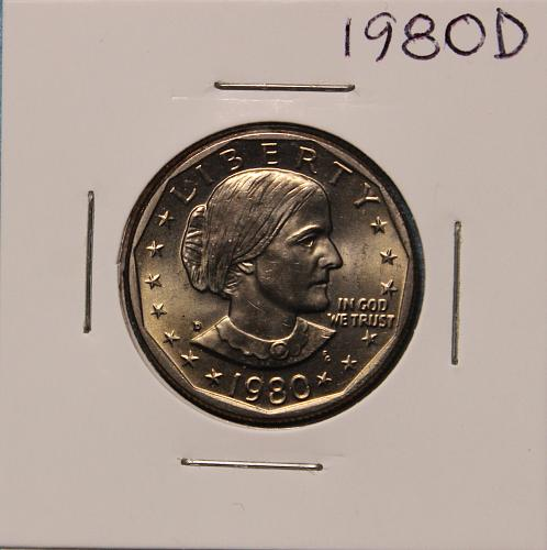 1980 D Susan B Anthony Dollar