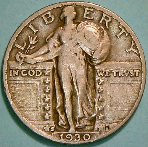 1930 S Standing Liberty Quarters Type 2. V1P8R4