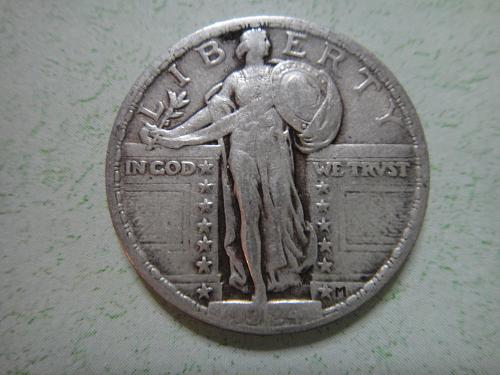 1924 Standing Liberty Quarter Very Fine-30 Sharp Definition . . .