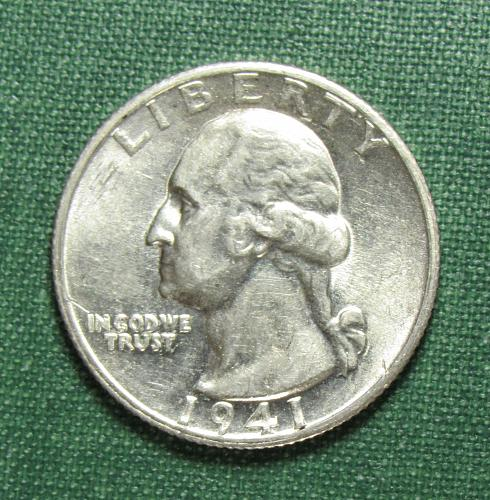 1941S Washington Silver Quarter
