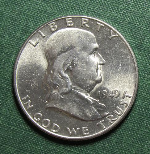 1949P Franklin Silver Half dollar