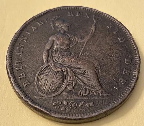 Price reduced SEMI-SCARCE 1826 United Kingdom large penny KM# 693