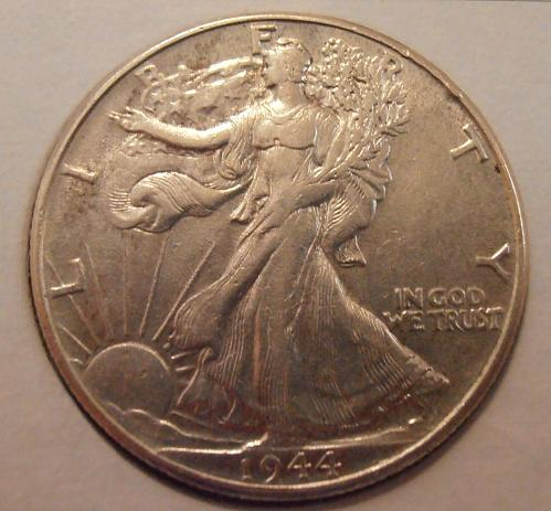 1944 P Walking Liberty Silver Half Dollar  (44PEK3)