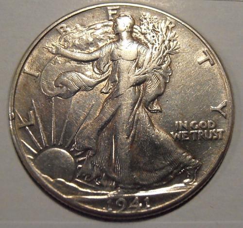 1941 P Walking Liberty Silver Half Dollar  (41PEK1)