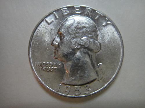 1953-D Washington Quarter Almost Uncirculated-53