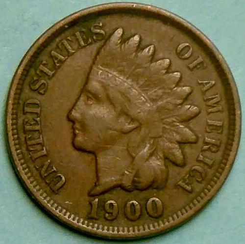 1900 Indian Head Cent Bronze Composite Penny. V1P9R4