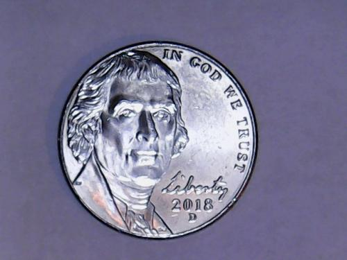 2018 D Jefferson Nickel