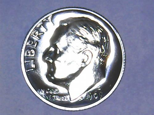 1969 S Roosevelt Dimes. From Proof Set.