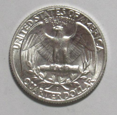 1964 D Washington Quarter in AU condition