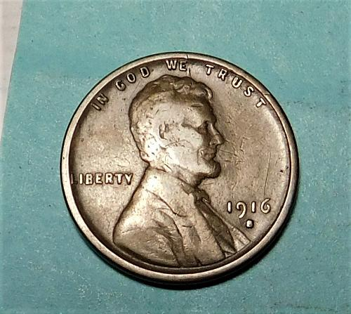 1916 S  Lincoln Wheat Cent