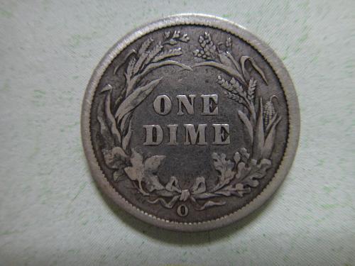 1899-O Barber Dime Very Fine-20 Nice Reverse Defintion . . .