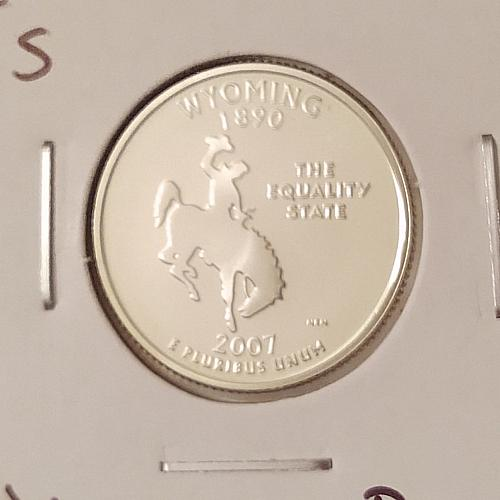 2007 S Wyoming 50 States and Territories Quarter