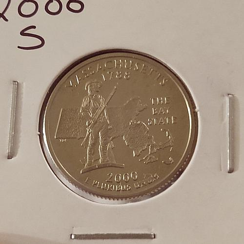 2000 S Massachusetts 50 States and Territories Quarter-Proof