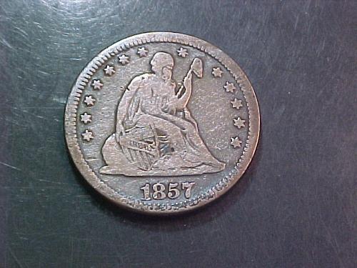 1857 O SEATED LIBERTY QUARTER        ac49
