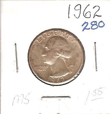 1962 Washington Quarter