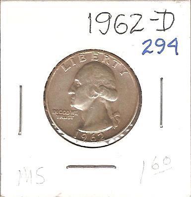 1962-D Washington Quarter
