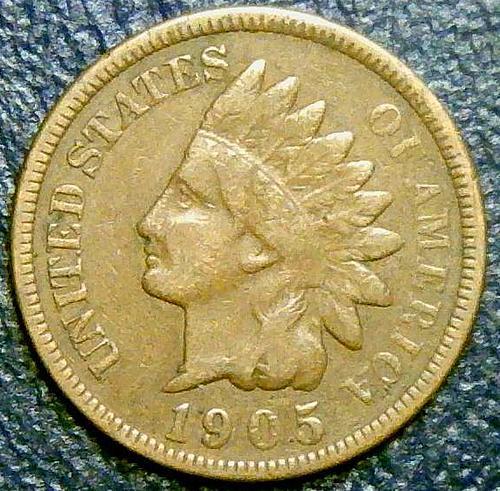 1905 Indian Head Cent Bronze Composite Penny V1P10R4