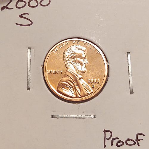 2000 S Lincoln Memorial Cent Small Cent -Proof