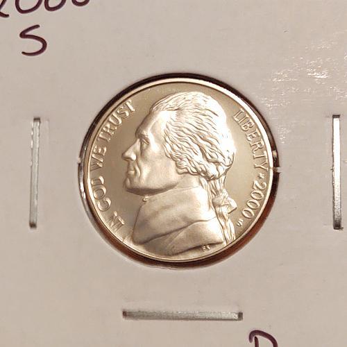 2000 S Jefferson Nickel - Proof