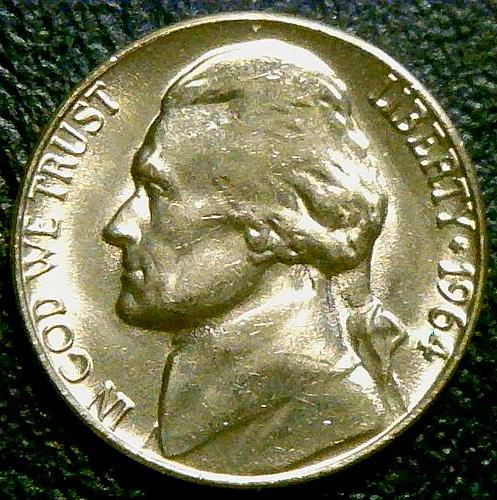 1964 Jefferson Nickels Pre-War Composition V3P1R4