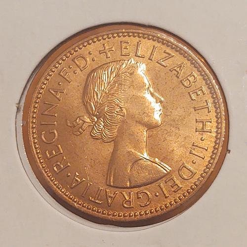 1959 Great Britain Half Penny -Unc.